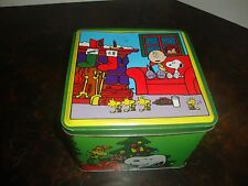 """Snoopy Christmas Tin---Limited Edition---Collector's Series---Empty--4 1/2"""" Tall"""