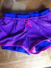 NIKE DRI FIT  2 IN 1 SHORTS SIZE X SMALL SPLATTER PINK BLUE FULL FLEX