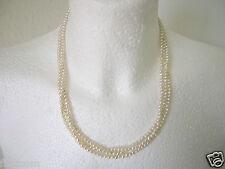 Süsswasser Perlen Kette 3 Reihig Magnetverschluß 32,9 g/48 cm/0,4 cm