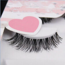 New 5 Pairs Natural Eye Lashes Makeup Handmade Thick Fake Cross False Eyelashes.