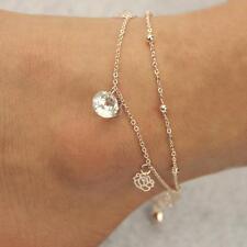 Crystal Elegant Gold Rose Bell Charm Sexy Anklet Foot Chain Anklet Bracelet N1