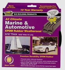 "New! 01033 ALL CLIMATE RUBBER WEATHERSTRIP Black Auto / Marine 5/16""x 19/32""x10'"