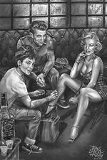 MARILYN AUDREY DEAN - TATTOO ART POSTER - 24x36 JAMES DANGER HARVEY 3251
