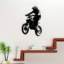 Motocross Stunt Dirt Bike Motorcycle Wall Art Vinyl Decal Stickers Decor