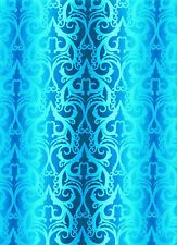 Fabric #2329, Blue Ombre Stripe, Jason Yenter, End of Bolt at 34 and 3/4 Inches