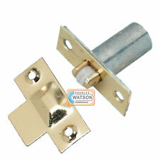 BRASS Adjustable Roller Catch Mortice Door Spring Ball Latch & Strike Plate