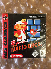 BRAND NEW FACTORY SUPER MARIO BROS NES CLASSICS NINTENDO GAMEBOY ADVANCE