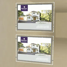 A4 Real Estate Agency Light Box with LED Acrylic Crystal window business sign