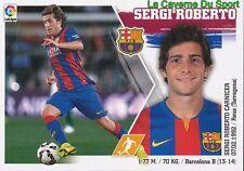 15 SERGI ROBERTO  ESPANA FC.BARCELONA STICKER LIGA 2016 PANINI