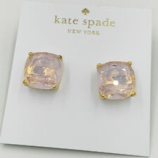 Kate Spade New York Faceted Square Stud Earrings,14k gold filled post,light pink