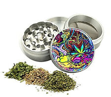 Tobacco Grinder Heavy Duty Aluminum Herb/Spice/Weed Alloy Smoke Crusher 4 Piece