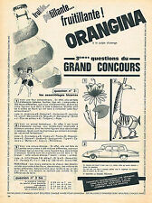 PUBLICITE ADVERTISING  1962    ORANGINA  soda GRAND CONCOURS