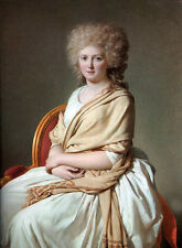 Oil painting Jacques Louis David Noblelady Portrait of Anne-Marie-Louise seated