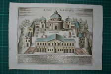 Italien - Rom - Mons Ianiculus / Original Kupferstich von Jacobus Lauro 1625.