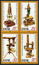 Germany DDR/GDR 2124-2127a Bl/4, MNH. Optical Museum, Karl Zeiss Foundation,1980