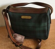 Polo Ralph Lauren Crossbody Shoulder Bag Vintage Tartan Plaid Blackwatch Purse
