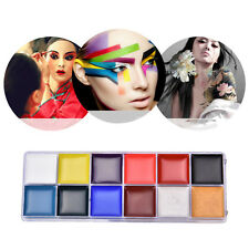 12 Color Face Body Paint Oil Painting Art Make Up Set Party Halloween Fancy FG