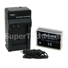 Battery + Charger For Panasonic DMW-BCG10 DMW-BCG10PP DMC-ZR1 DMC-ZR3 DMC-ZS19