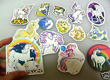 14 BIG UNICORN STICKERS - GLOSSY OR GLITTER