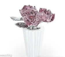 Swarovski Rose Bouquet Flower, Antique Pink Crystal Figurine Authentic - 5045565