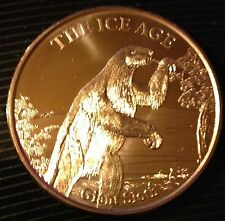 1 OZ COPPER ROUND THE ICE AGE - GIANT SLOTH