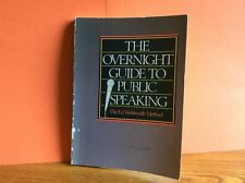 Running Press 1983 The Overnight Guide to Public Speaking  by Ed Wohlmuth leader