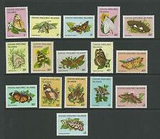 1982 Butterflies & Moths Complete set of 16 MUH/MH SG 84 - 99 as sold at PO