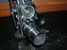 Bolex H16 Reflex Camera with 3 prime lenses 12.5mm / 25mm / 75mm C-Mount lenses