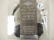 Bling stereo headphones by Fine Audio Products retail box (33576)