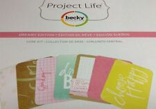 Project Life Dreamy Edition Partial Core Kit 120 Cards Scrapbooking Crafts
