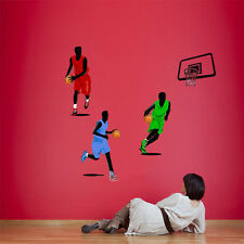 Ball Basketball NBA FUN Wall Stickers Removable Decals Art Mural Kids Room Home