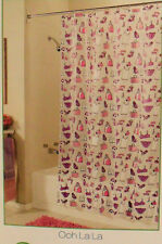 Diva Chic GIRLY GIRL Shower Curtain 100% Peva ECO FRIENDLY ODORLESS NEW