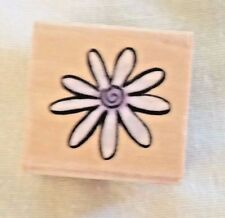 Sugarloaf Products Whispers Daisy Flower Wooden Rubber Stamp New