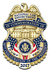 "Donald Trump Police Badge,  Inaugural Law Enforcement Protection Detail 1""Pin"