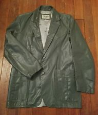 Men's Vintage Excalibur Jacket Coat Gray Leather Western Blazer Size M 40