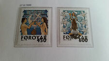 FAROE ISLANDS 1999 SG 381-382 CHRISTMAS MNH