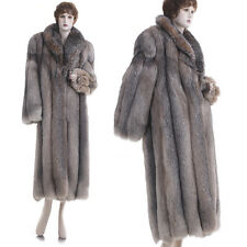 Excellent! Super Glam, Super Lux Crystal Fox Fur 50 in. Full-Length Coat