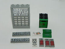 Lego Lot of Decorated Parts Tiles Container Window for set 6765 Gold City Juncti
