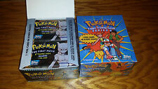 2 Trading Card Boxes of Topps Trading Cards Pokemon The First Movie + Series 2