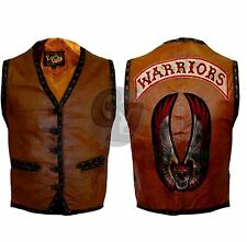 The Warriors Movie Stylish Vest Leather Jacket Bike Riders Halloween Costume