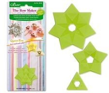 Clover Bow Makers Small 3 Types #CL8450 Sewing Quilting Notions