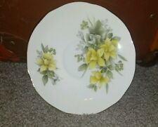 DUCHESS Fine Bone China yellow saucer/plate  without teacup