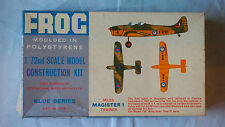 VINTAGE FROG MILES MAGISTER 1 TRAINER PLANE MODEL KIT 1/72 #153P