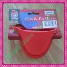 Red Silicone Oven Mitten Pot Holder Baking Kitchen