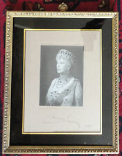 Queen Mary in Grand Duchess Vladimir Tiara Signed Photo by Hay Wrightson Jewels