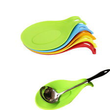 Silicone Heat Resistant Spoon Fork Mat Rest Utensil Classic Holder Kitchen GD