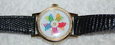 Vintage SWISS MADE 17 Jewel LE JOUR Ladies  Watch Color Dial Manual Wind WORKS