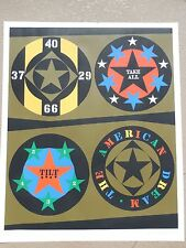 """Robert Indiana """"The American Dream""""  1971 Serigraph Hand Signed & Numbered"""