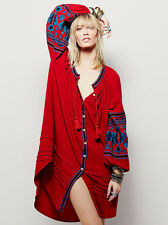Free People Bohemia embroidery cotton blend coat style skirt dress#5581