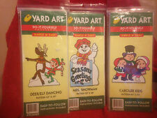 Lot of 3 HDC Inc Yard Art Do-It-Yourself Patterns 3 Different Christmas Themed